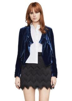 Lloyd Velvet Asymmetrical Jacket