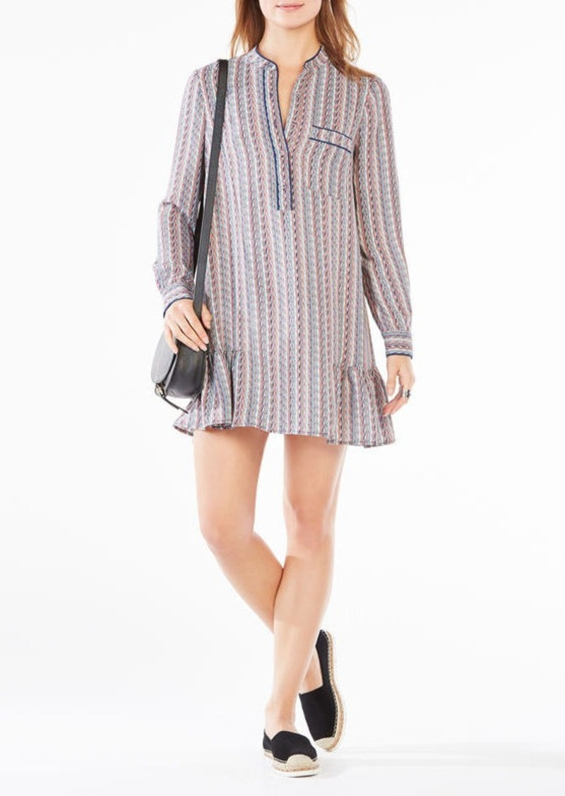 BCBG Lucile Printed Shirt Dress