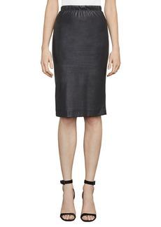 BCBG Lyric Faux-Leather Pencil Skirt