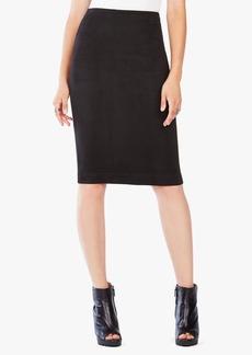 Lyric Faux Suede Pencil Skirt