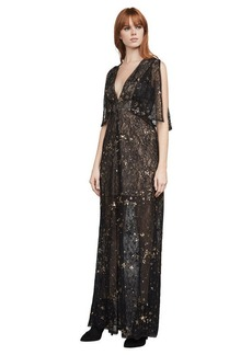 Mabel Metallic Stars Gown