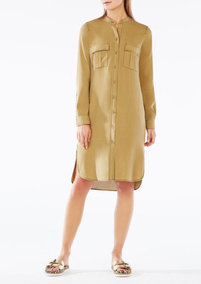 BCBG Maddox Silk Shirt Dress