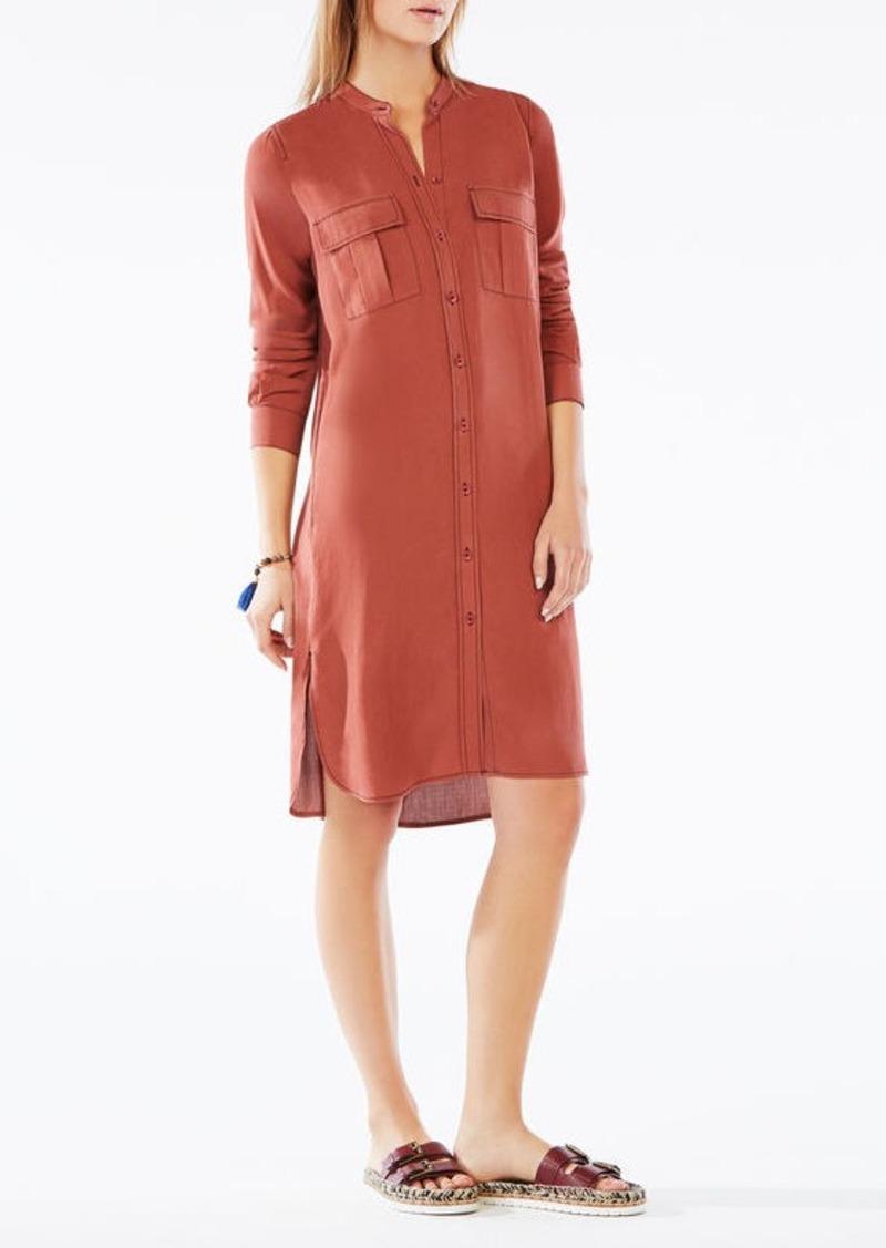 BCBG Maddox Silk Shirt Dress