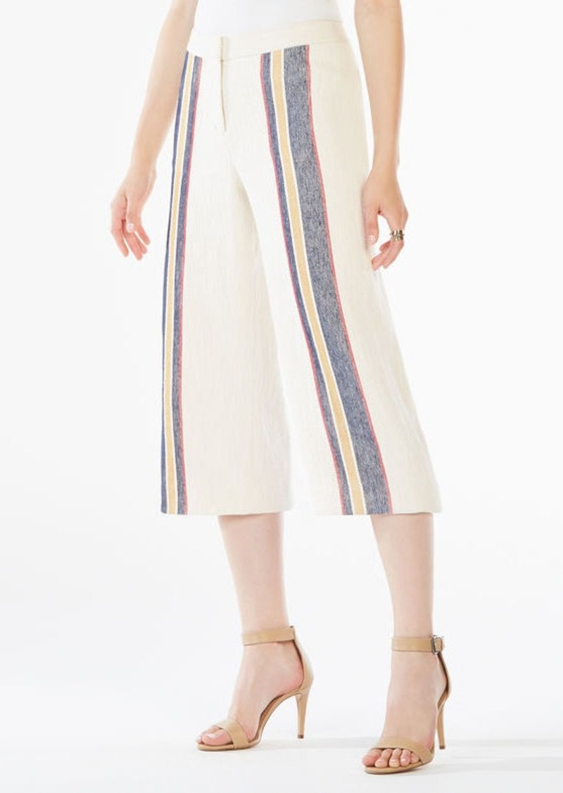 BCBG Malik Striped Culottes