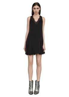 BCBG Mamie Lace-Trimmed Mini Dress