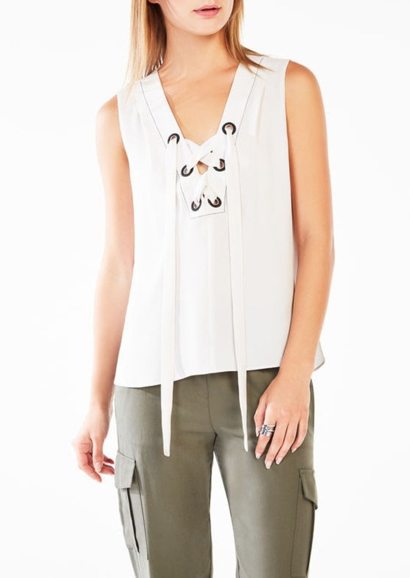 BCBG Marcia Lace-Up Tank Top