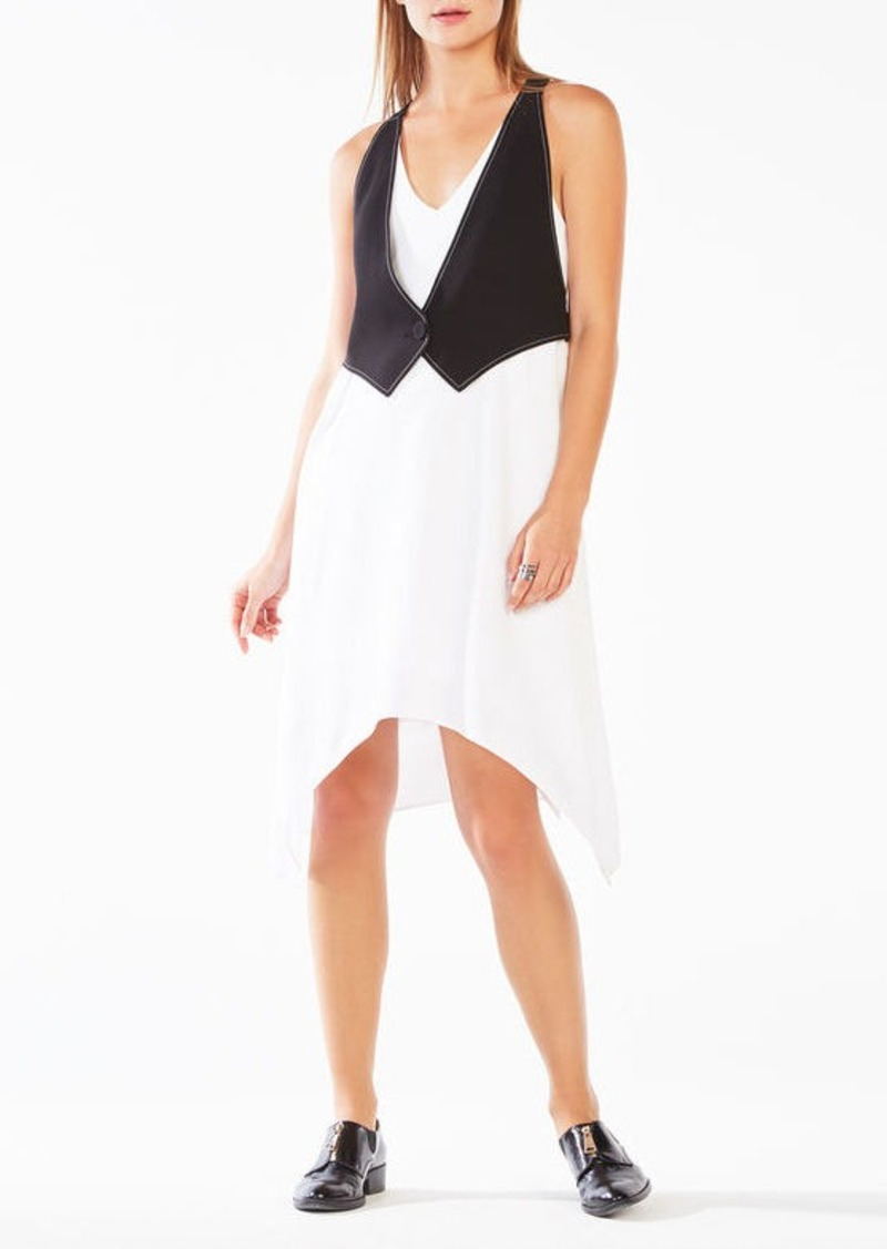 BCBG Marciella Color-Blocked Vest Dress