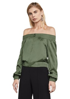 Marco Off-The-Shoulder Bomber Jacket