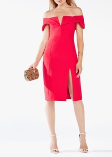 BCBG Marquis Off-The-Shoulder Dress