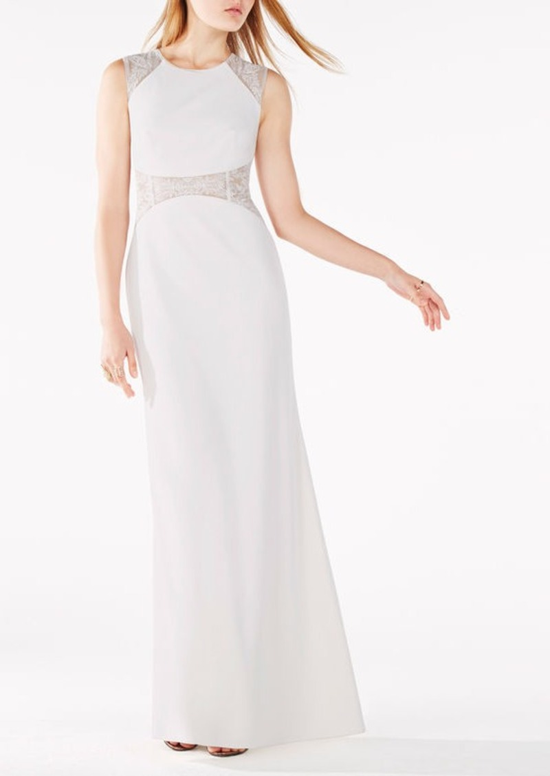 BCBG Maryana Embroidered Gown