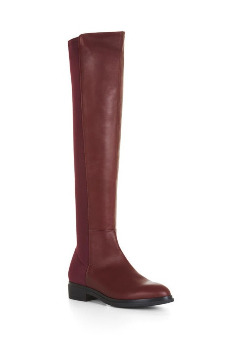 BCBG Matteo Over-The-Knee Leather Boots