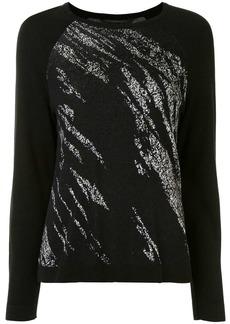 BCBG Max Azria abstract-pattern raglan jumper