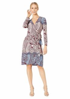 BCBG Max Azria Adele Printed Wrap Dress