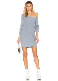 Alayna Oversize Sweater Dress In Bluviolet
