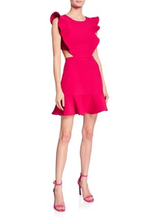 BCBG Max Azria Angle-Winged Cutout Cocktail Dress
