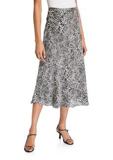 BCBG Max Azria Animal-Print Midi Skirt