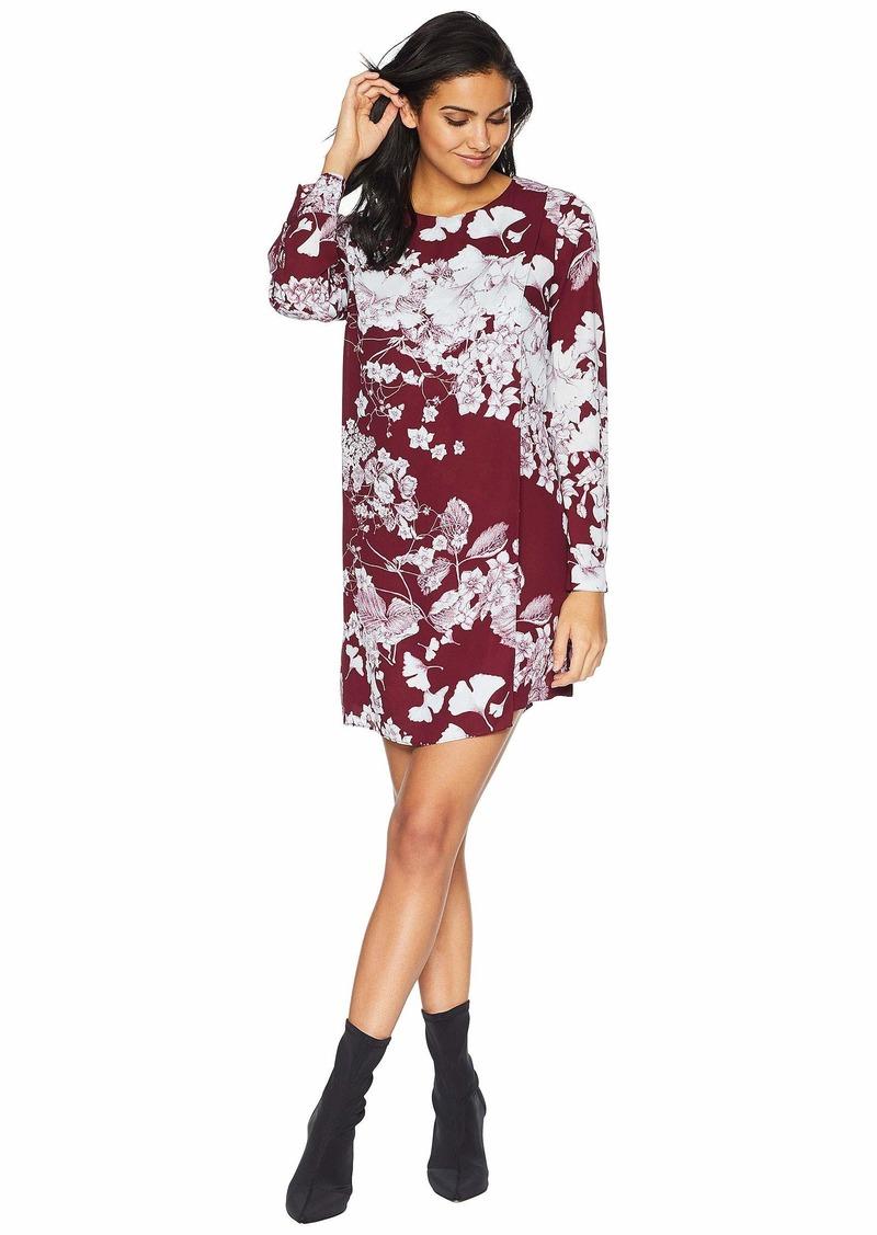 "BCBG Max Azria ""Ashton"" Long Sleeve Asymmetric Dress"