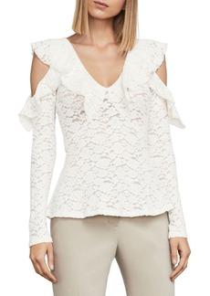 BCBG Max Azria Astril Cold-Shoulder Lace Top