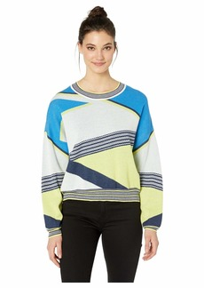 BCBG Max Azria Asymmetric Color Blocked Sweater