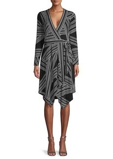 BCBG Max Azria Asymmetric Knit Wrap Dress