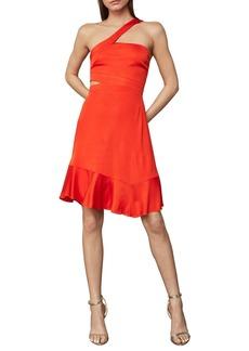 BCBG Max Azria Asymmetric Neck Cutout Swing Dress