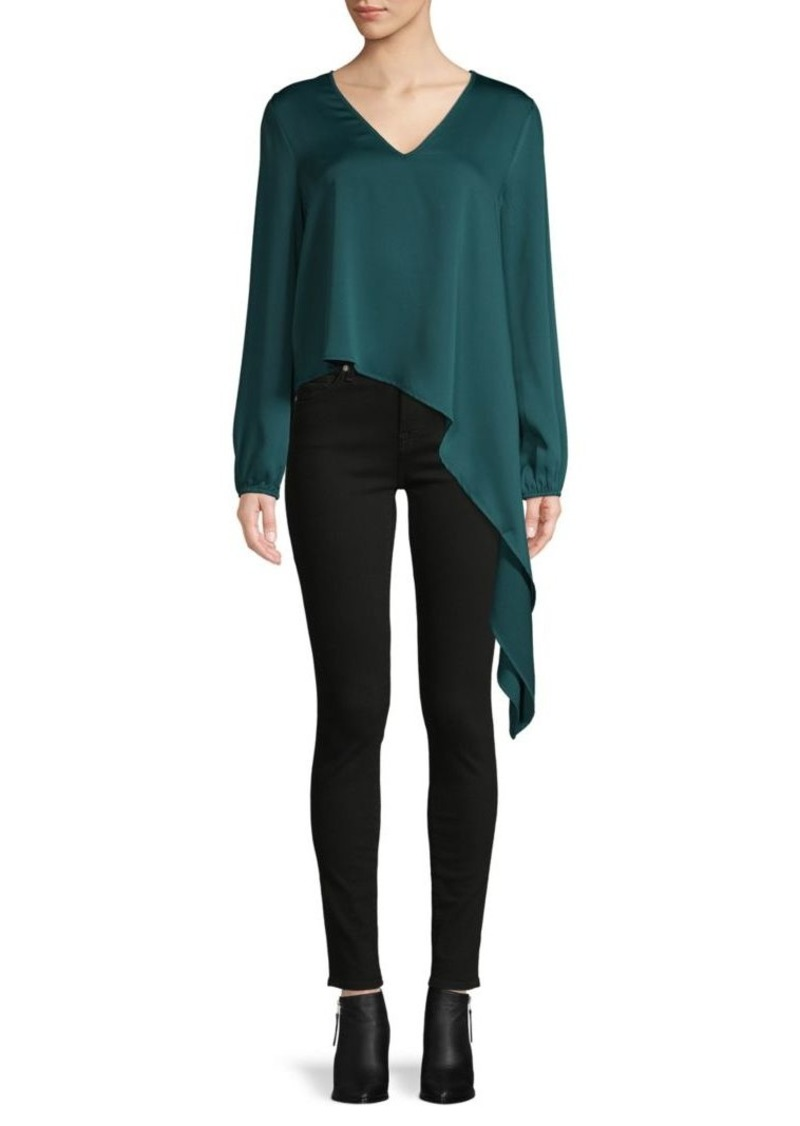 BCBG Max Azria Asymmetrical Draped Top