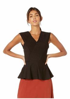 BCBG Max Azria Asymmetrical Hem Knit Top