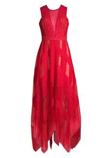 BCBG Max Azria Asymmetrical Lace Dress