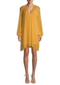 BCBG Max Azria Asymmetrical Mini Shift Dress