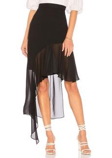 BCBG Max Azria Asymmetrical Ruffle Skirt