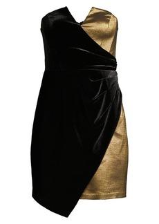 BCBG Max Azria Asymmetrical Strapless Mini Cocktail Dress