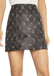 BCBG Max Azria Basket Weave Jacquard Mini Skirt