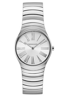 BCBG Max Azria Bcbgmaxazria Ladies Round Silver Stainless Steel Bracelet Watch, 33mm