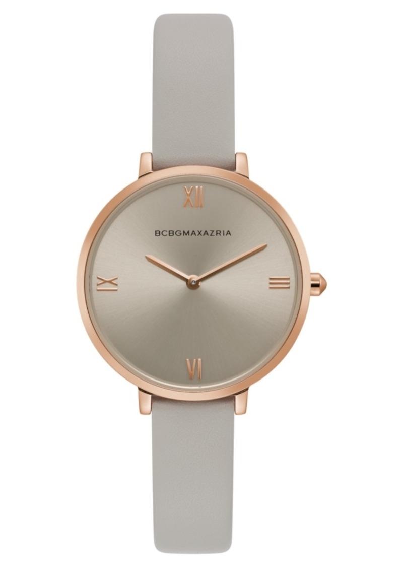 BCBG Max Azria Bcbgmaxazria Ladies Grey Strap Watch with Grey Dial, 34mm