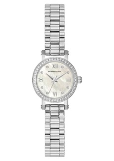 BCBG Max Azria Bcbgmaxazria Ladies SilverTone Bracelet Watch with Light Mop Dial, 24mm