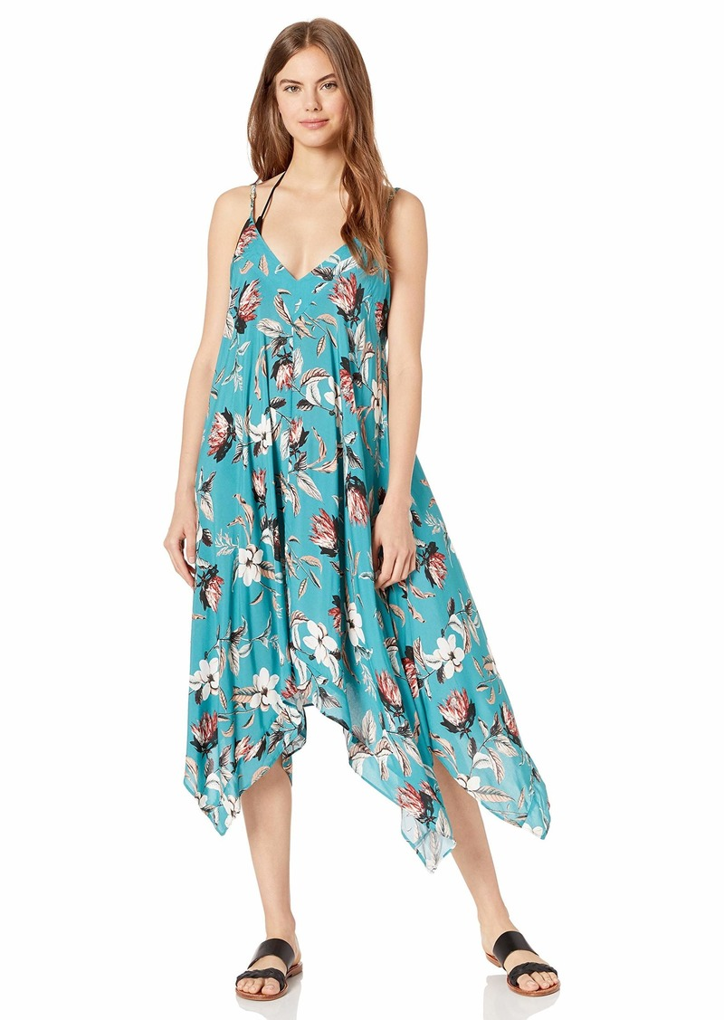 BCBG Max Azria BCBG Women's Flowy V-Neck Midi Dress Cover-Up  S