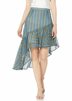 BCBG Max Azria BCBG Women's Striped Pyramid Asymmetric Skirt  S