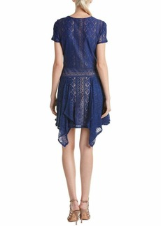 BCBG Max Azria BCBGMax Azria Women's Aileen Crew Neck Short Sleeve Dress