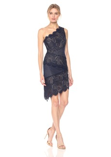 BCBG Max Azria BCBGMax Azria Women's Alisha Woven Lace One Shoulder Dress