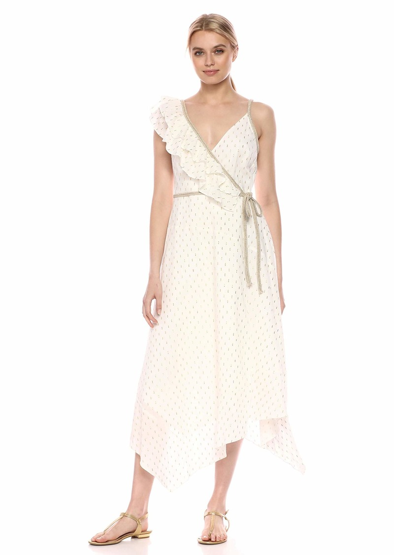 BCBG Max Azria BCBGMax Azria Women's Asymmetric Midi Wrap Dress  XS