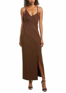 BCBG Max Azria BCBGMax Azria Women's Asymmetric Stripe Long Dress  XS