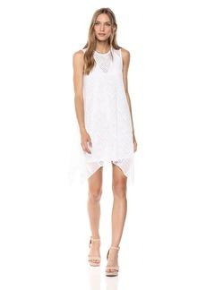 BCBG Max Azria BCBGMax Azria Women's Asymmetrical Geometric Lace a-Line Dress  S