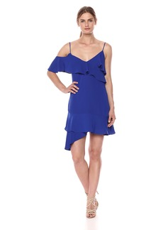 BCBG Max Azria BCBGMax Azria Women's Asymmetrical Ruffle A-Line Dress