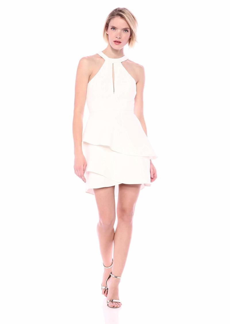 BCBG Max Azria BCBGMax Azria Women's Asymmetrical Ruffle Halter Dress