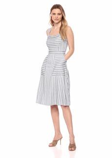 BCBG Max Azria BCBGMax Azria Women's Asymmetrical Stripe Flared Dress