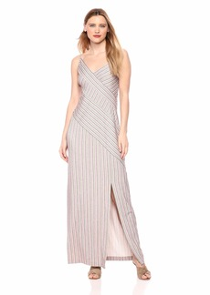 BCBG Max Azria BCBGMax Azria Women's Asymmetrical Stripe Maxi Dress  S