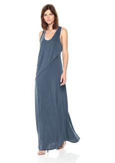 BCBG Max Azria BCBGMax Azria Women's Audra Knit Ruffle Overlay Maxi Dress  S