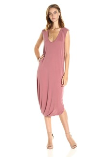 BCBG Max Azria BCBGMax Azria Women's BRE Asymmetric Sleeveless Knit Casual Dress  L