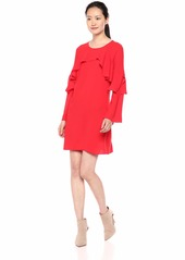 BCBG Max Azria BCBGMax Azria Women's CAI Cascading-Ruffle Dress JEWELRED M