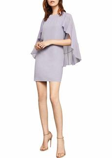 BCBG Max Azria BCBGMax Azria Women's Cape-Sleeve A-Line Dress Lilac ice M